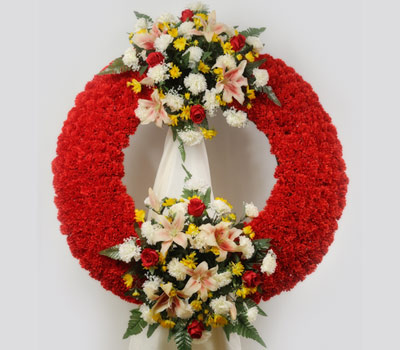Service of funeral flowers
